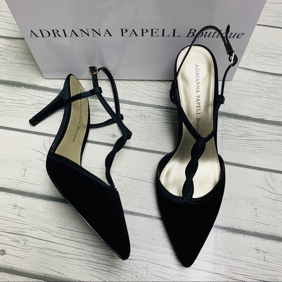 Adrianna Papell Shoes - Adrianna Papell Sz 8 Hannah Black Velvet Heels